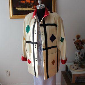 Vintage International Scene Funky Wool Coat